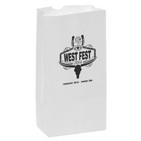 White Kraft Paper SOS Grocery Bag 8# - Flexo Ink