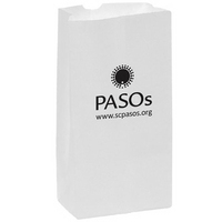 White Kraft Paper SOS Grocery Bag - 10 lb - Flexo Ink