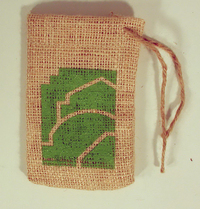 Small Parts Jute/Burlap Drawstring Bag