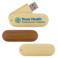 Bamboo Wood USB Swivel Flash Drive