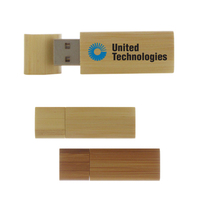 Bamboo Wood USB Flash Drive w/Removable Cap