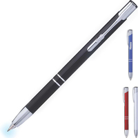 Firefly Metal Click Ballpoint with LED Light