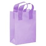 Color Frosted Soft Loop Shopper Bag with Insert - Foil Stamp