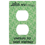 Single outlet plate decal