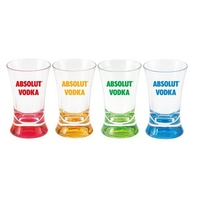 2 oz Cheers Acrylic Shot Glasses with colorful base