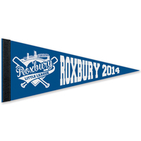 "8"" x 18"" Colored Felt Pennant with 1"" Sewn Strip"