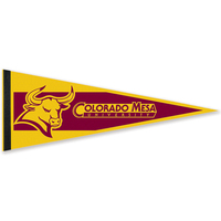 "9"" x 24"" Colored Felt Pennant with 1"" Sewn Strip"