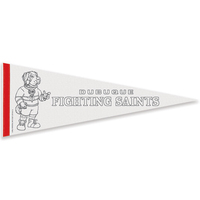 "9"" x 24"" Color-Me Pennant with 1"" Sewn Strip"