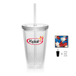 Plastic Tumbler Cup Drinkware with Candy Stars - 16 oz.