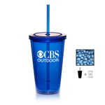 Tumbler Cup with Corporate Color Chocolates - 16 oz.