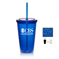 Tumbler Cup with Corporate Color Jelly Beans Candy - 16 oz.
