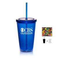 Plastic Tumbler Cup Drinkware with Jolly Ranchers - 16 oz.