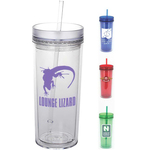 Durango 16 oz Double Wall Acrylic Tumbler with Straw