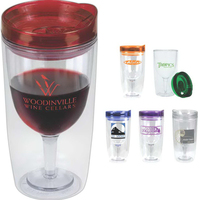 Merlot Mate 10oz Double Wall Wine Glass Shaped Tumbler