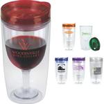 Merlot Mate 10oz Double Wall Wine Glass Shaped Tumbler