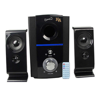 Supersonic Bluetooth Multimedia Speaker System With, USB/Aux