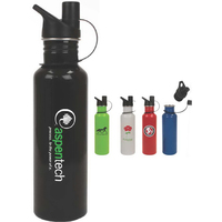 Trigger 25oz Stainless Steel Sports Bottle with Sports Lid