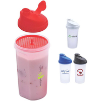 Workout Partner 24oz.Fitness Drink Shaker with Plastic Grate