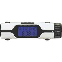 World Time Travel Alarm Clock with LED Flashlight