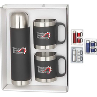 Stainless Steel Mugs and Thermos Gift Set