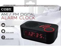 Coby DIGITAL ALARM CLOCK WITH AM/FM RADIO AND DUAL ALARM
