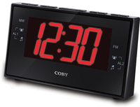 Coby DIGITAL ALARM CLOCK WITH AM/FM RADIO AND DUAL ALARM