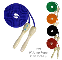"Wooden Handle Jump Rope - Blue - 9 Feet Long (108"")"