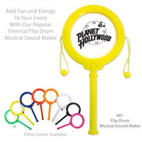 Flip Drum Party & Sports Noisemaker - Yellow - E661