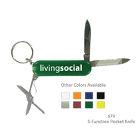 5 Function Pocket Knife Multi-Purpose Tool - Green
