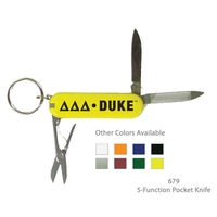 5 Function Pocket Knife Multi-Purpose Tool - Yellow