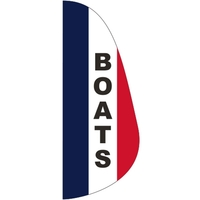 3' x 8' Message Feather Flag - Boats