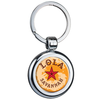 Two-Sided Budget Chrome Plated Domed Keytag
