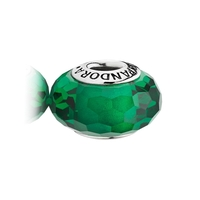 Pandora Green Fascinating Glass Charm