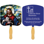 Religious Hand Fan - Spot Color