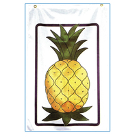 Screen printed pineapple stock design flag