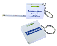 Measuring Tape Keychain - White - E678