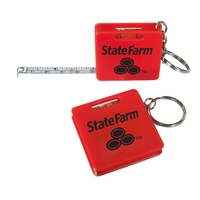 Measuring Tape Keychain - Red - E678