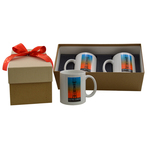 Two 11 oz Full Color Mugs in Gift Box