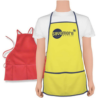 "Wide 27"" x 23 1/2"" Grommet-style apron"