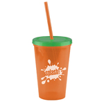 The Pioneer 16 oz Insulated Straw Tumbler