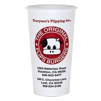 22 oz Double-Poly Paper Cold Drink Cup - Flexo Printing