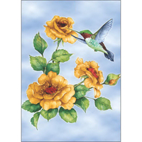 Hummingbird and Rose