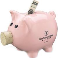 "7"" L Corky Piggy Bank"