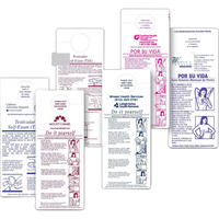 Monthly Breast Self-Exam Chart in English & Spanish