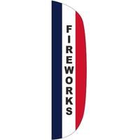 3' x 12' Message Flutter Flag - Fireworks