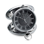 Grand Odyssey Clock (Stainless Detail) - Black