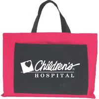 Wide tote bag with pocket
