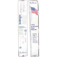 18ft. white steel pole with 3ft. x 5ft. USA flag