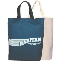 Colored twill tall tote bag