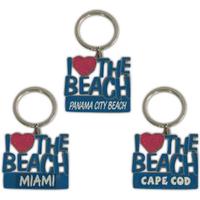 I Love The Beach Key Tag